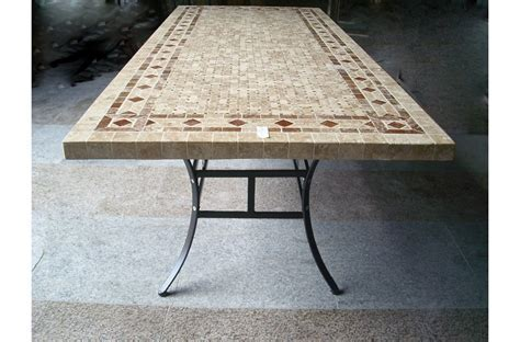 160 200 240cm Italian Mosaic Marble Outdoor Patio Table