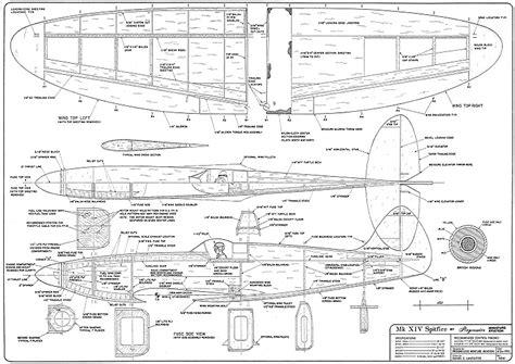 spitfire xiv plans aerofred   model