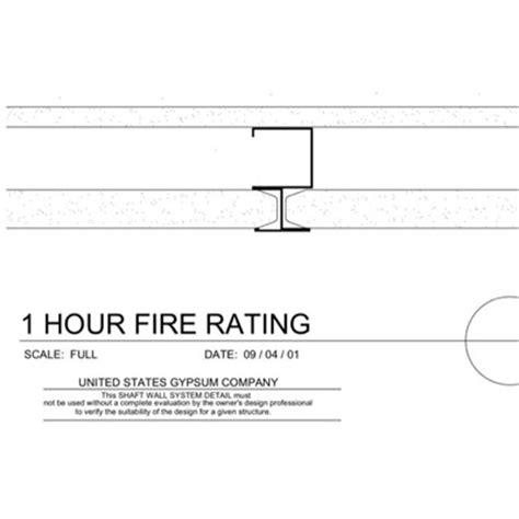 1 Hour Ceiling Usg Design Studio 2 Hr Details