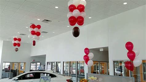 chevy  dealership balloon decorations  car