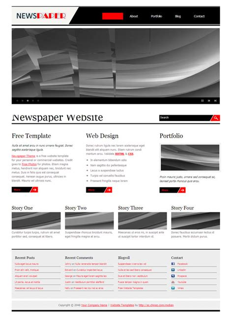 newspaper layout css newspaper websites css page templates over millions