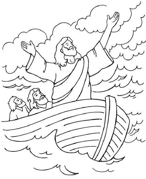 Coloring Page Jesus Calms The by Motorcycle Coloring Pages Adorable Christian