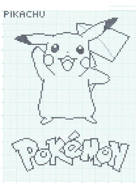 drawing graph graft paper pikachu graph paper ver by