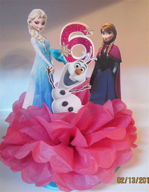 princess anna elsa olaf frozen birthday party centerpiece