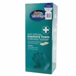 buy silentnight memory foam mattress topper single at home