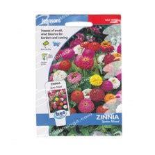 Johnsons Seeds Zinnia Sprite Mixed benih zinnia lokal pink 10 biji non retail bibitbunga