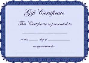 gift certificate templates for free