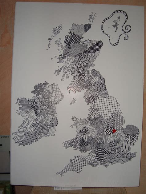 zentangle pattern sez map of england scotland and wales as a zentangle crafts