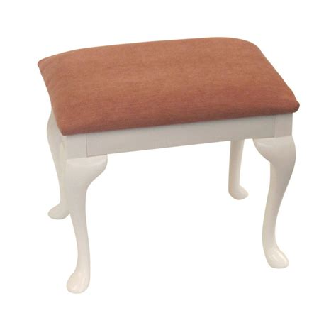 pink chenille top dressing table bedroom stool with