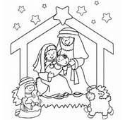 Dibujos Para Colorear Del Nacimiento De Jes&250s En Un Pesebre Bel&233n