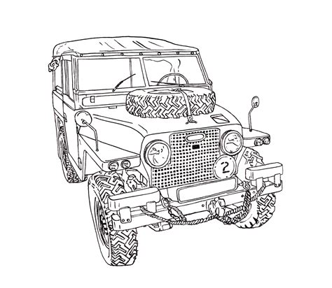 range rover sketch land rover half ton lightweight ink drawing landy