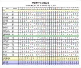 Employee Scheduling Calendar Template by Scheduling Flexibility With Employee Schedule Software
