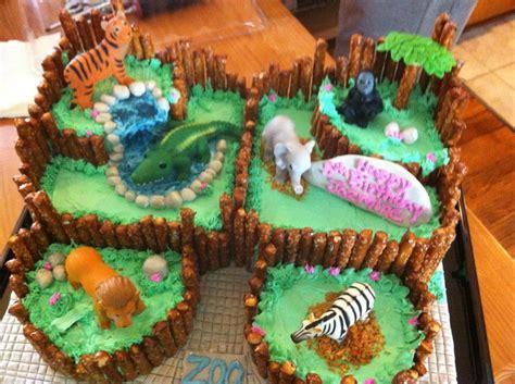 zoo themed birthday cake ideas zoo cake birthday cakes pinterest