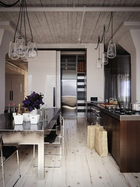 cool kitchen lighting ideas 59 cool industrial kitchen designs that inspire digsdigs