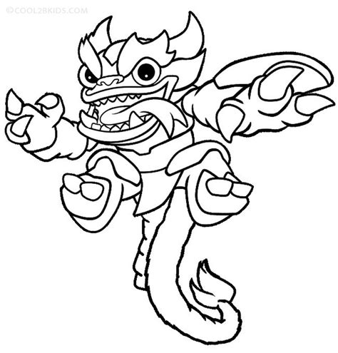 Skylanders Printable Coloring Pages printable skylander giants coloring pages for