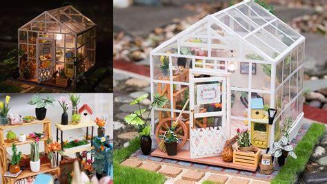 dollhouse greenhouse diy dollhouse kit miniature greenhouse cathys flower