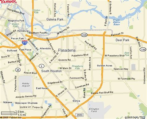 pasadena texas map pasadena texas map