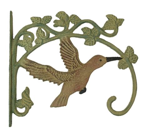 set of 2 cast iron hummingbird feeder or plant hanger 11 3