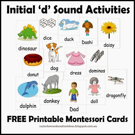 Start With The Letter D s home education ideas initial d sound activities