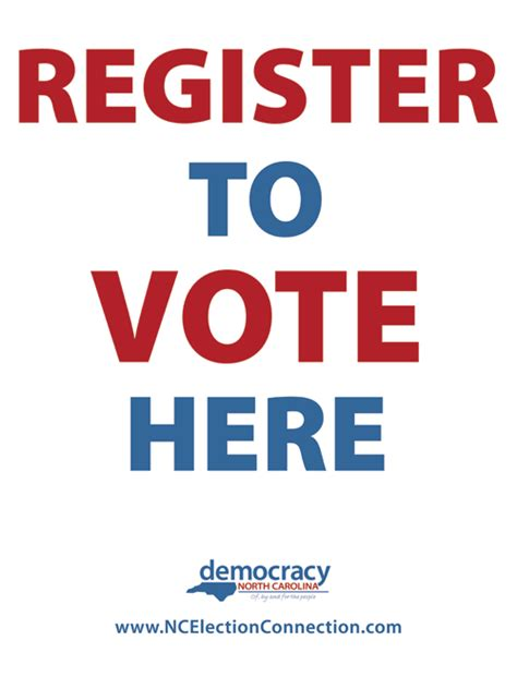 vote poster template 13 best photos of register to vote here posters register