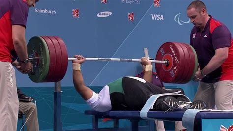 bench press game powerlifting london 2012 paralympic games youtube
