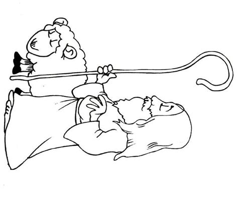 lost sheep coloring page sketch coloring page