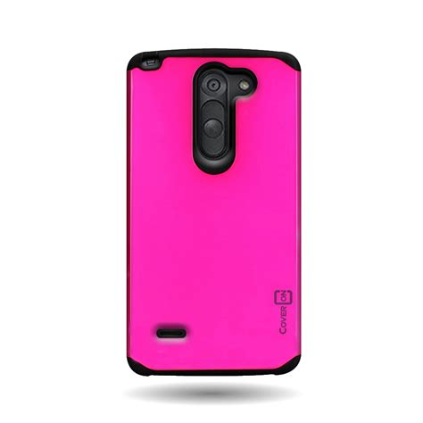 Hardcase Lg G3 Staylus Bening pink black tough slim cover protective for