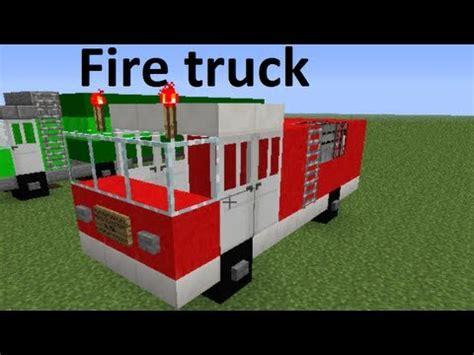minecraft fire truck minecraft vehicles fire truck eng subs youtube