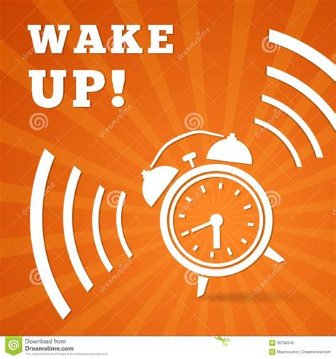 wake  alarm stock vector illustration  alert awake