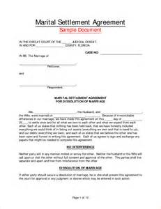 Marital Separation Agreement Template marriage separation agreement templatereport template document