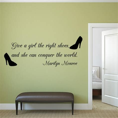 quotation wall stickers right shoe quote wall decal wall decal world