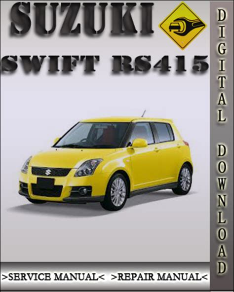 suzuki swift 1995 2001 workshop service repair manual 2004 suzuki swift rs415 factory service repair manual suzuki swift service manual rs415 repair
