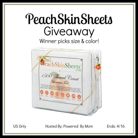 peachskin sheets giveaway - Sheets Giveaway