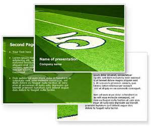 Football Field Powerpoint Template by American Football Field Powerpoint Template
