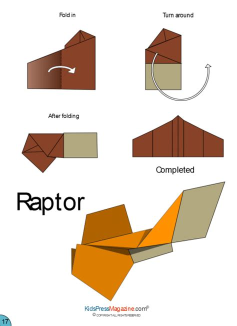 How To Make An Advanced Paper Airplane - paper airplane raptor kidspressmagazine
