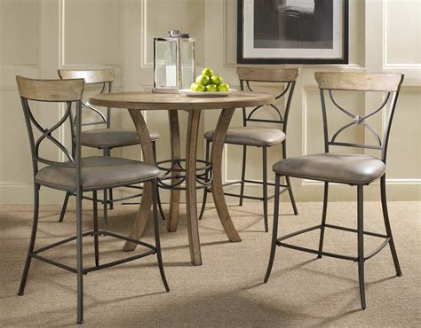 bar dining table hillsdale charleston round counter height dining table
