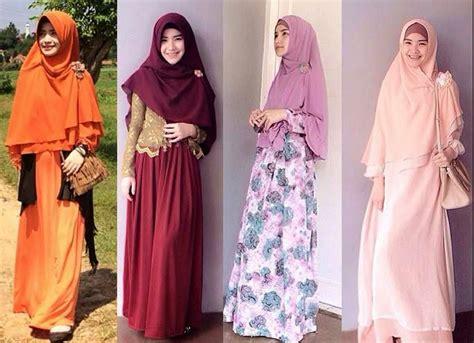 Baju Gamis Jilbab Remaja Znb 80 25 contoh model baju muslim tren sekarang 2017