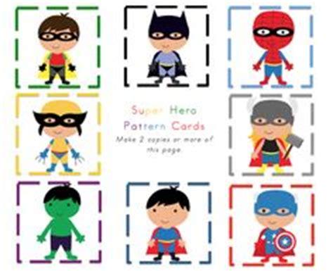 printable heroes drive preschool printables super hero s pattern cards