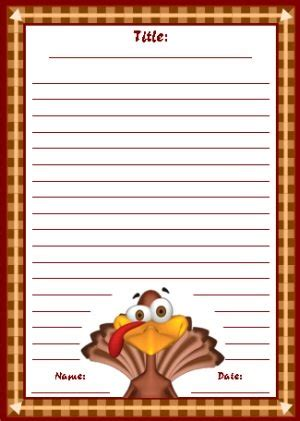 Thanksgiving Writing Paper Template by Thanksgiving Printable Worksheets Colorful Fall Autumn
