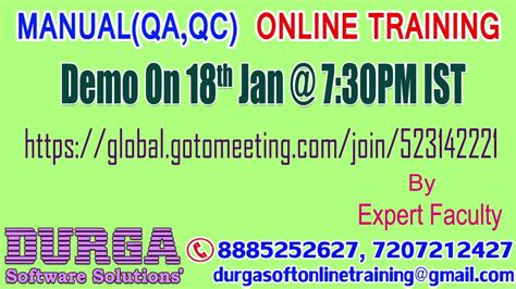online tutorial for qc manual qa qc online training by expert faculty demo on