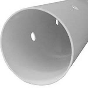 Genova pipe 40041 4 inch x 10 foot perforated schedule 40 pvc dwv pipe