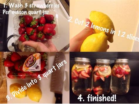Detox Water Lemon And Strawberry by Strawberry Lemon Detox Water Drinks Detox