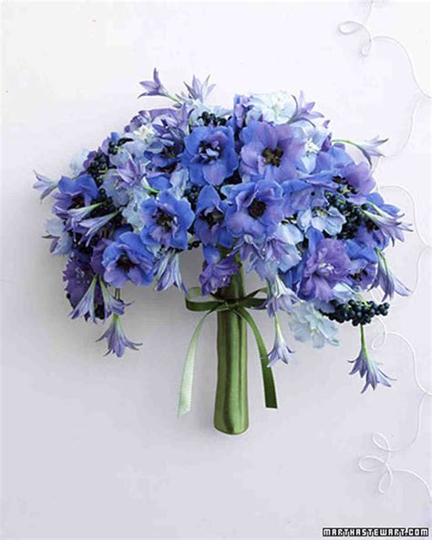 Wedding Flower Ideas Blue by Blue Wedding Bouquets Martha Stewart Weddings