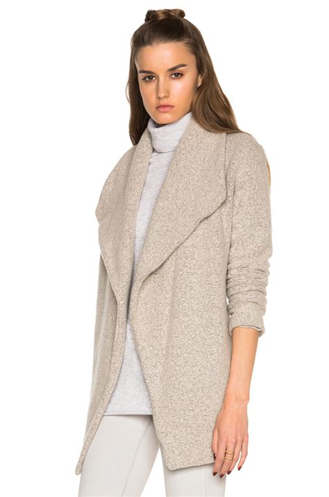 drape cardigan sweater james perse open drape cardigan sweater in natural lyst