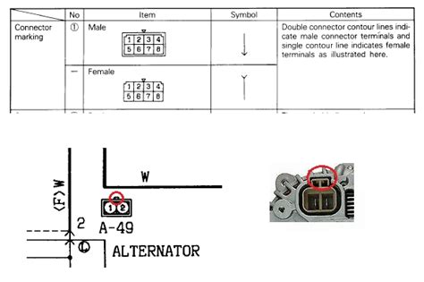 pajero alternator wiring diagram wiring diagram and