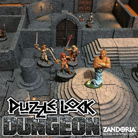 printable model puzzlelock dungeon cgtrader