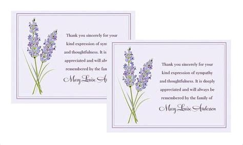 free memorial thank you card template how to write thank you cards for funeral free premium