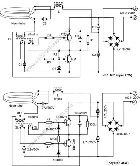 memperbaiki lu neon plc rusak elektronika spot