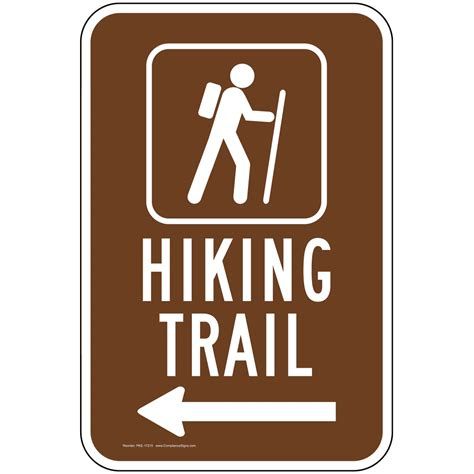hiking trail left arrow sign pke 17215 recreation