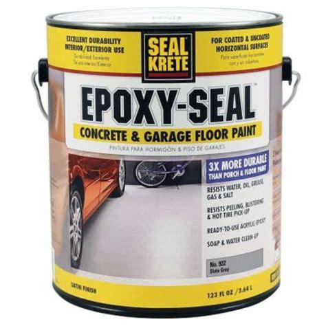 seal krete epoxy seal slate gray   gal concrete